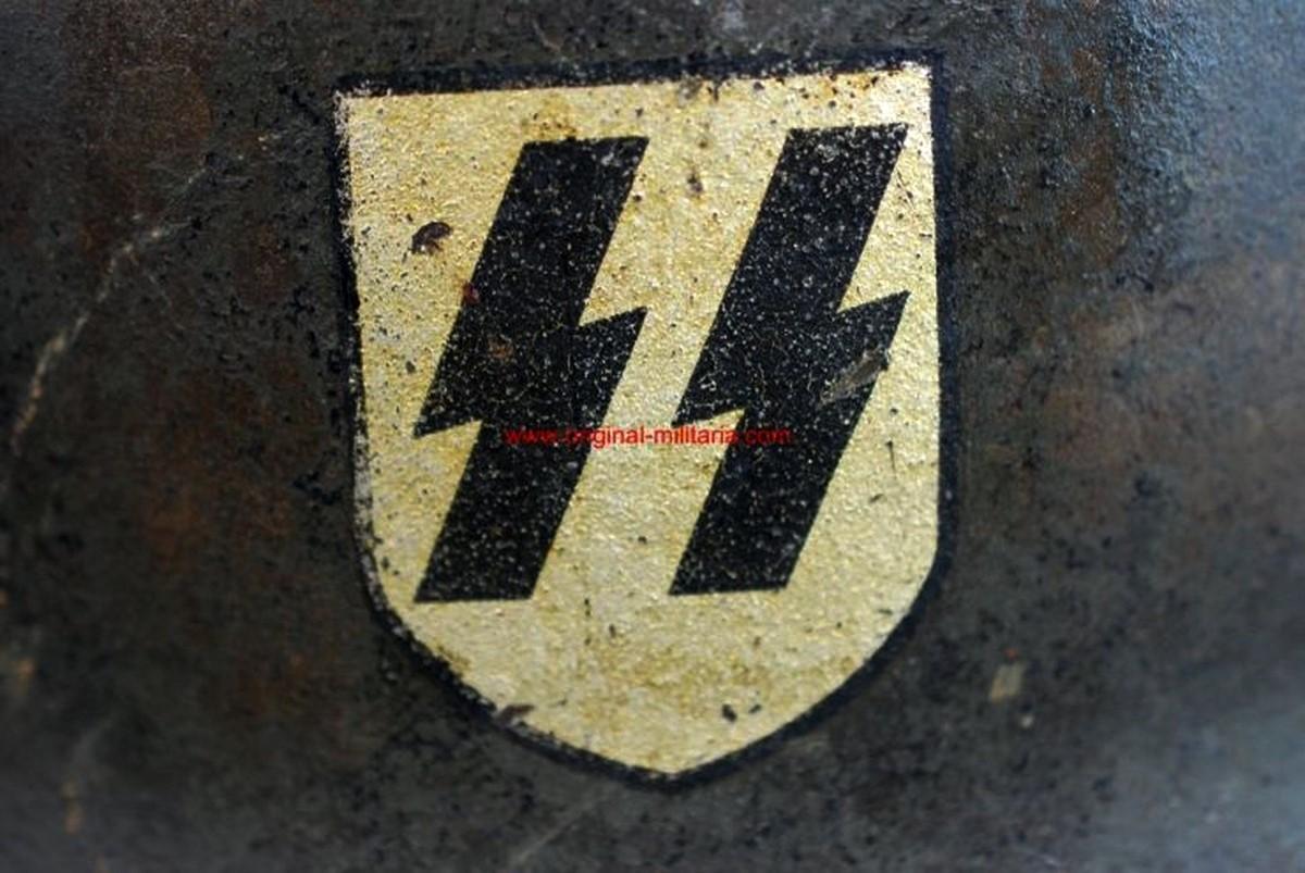 Waffen SS/ Casco de Combate M35, ET66